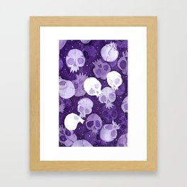 lilac pattern Framed Art Print