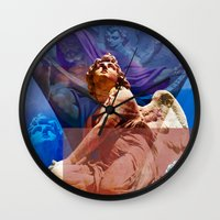 religious Wall Clocks featuring Religious Hymns of Angels by CAPTAINSILVA