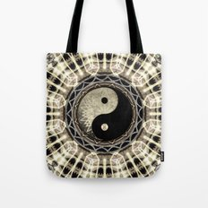 Yin Yang Geometry Mandala V1 Tote Bag