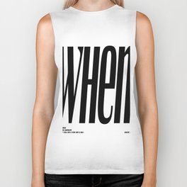 grace allen quote, typography art Biker Tank