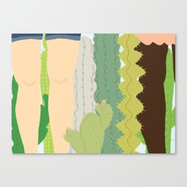 cacti legs Canvas Print