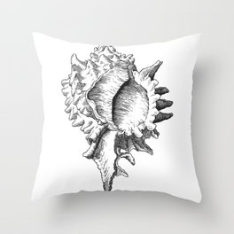 Shell We? Throw Pillow