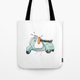 Watercolour | Bali Scooter Tote Bag