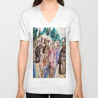 grateful dead V-neck T-shirts featuring Dark Star Orchestra Grateful Dead Painting by Acorn