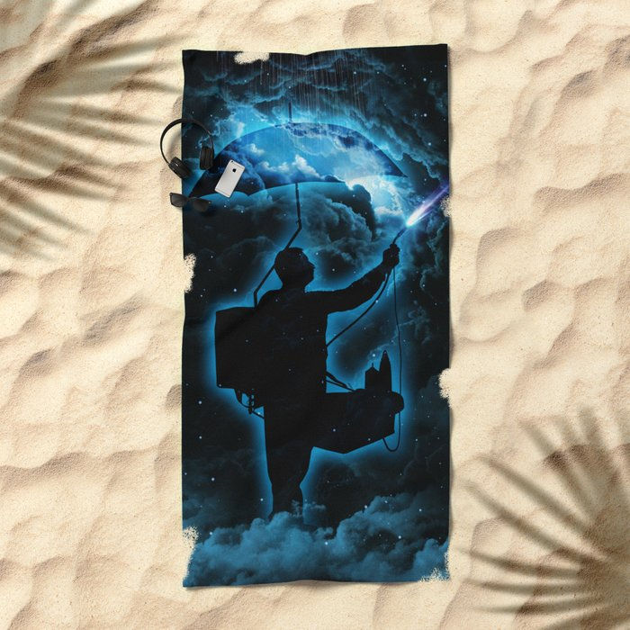 The Storm Breaker  Beach Towel