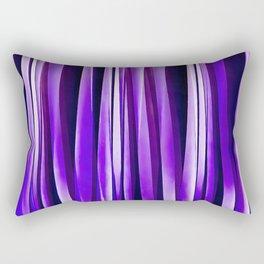 Royal Purple, Lilac and Silver Stripy Pattern Rectangular Pillow