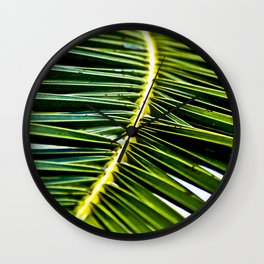 Magic Green Palm Leaves Wall Clock