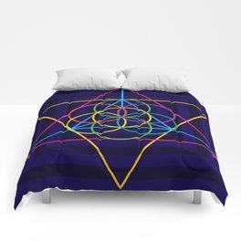 Multicolor Triangle Dance Comforters