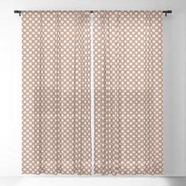 Creamy Off White SW7012 Tiny Uniform Polka Dot Pattern 1 on Cavern Clay SW 7701 Sheer Curtain