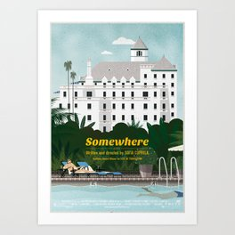 Somewhere fanart movie poster Art Print