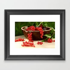 Delicious berries in still life Framed Art Print