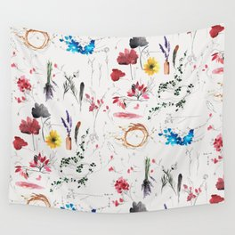 Pressed flowers Wall Tapestry