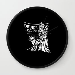 Druid Level 70 Game Role-playing Player Wall Clock