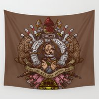 murray Wall Tapestries featuring Murray crest by Rodrigo Ferreira