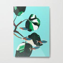 Jeff's aquarium: The Neon Tetra Pak Metal Print