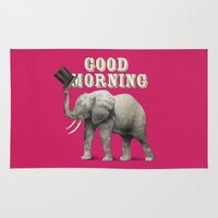 good morning Area & Throw Rugs featuring Good Morning by Eric Fan