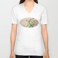 romance V-neck T-shirts featuring Romance by Kim Bajorek