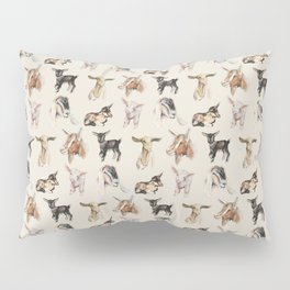 Vintage Goat All-Over Fabric Print Pillow Sham