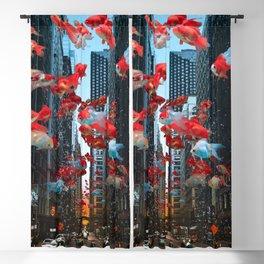 Aquatic Street Life Blackout Curtain