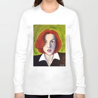 dana scully Long Sleeve T-shirts featuring Dana Scully: Xfiles by Cameron Tyme Edison