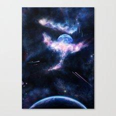 Space Scene Zero One Canvas Print