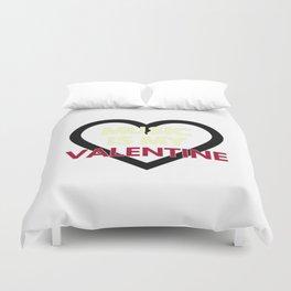 music is my valentine new 2018 14feb love heart Duvet Cover