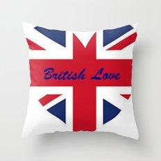 British Love Throw Pillow