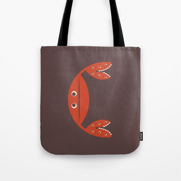 Letter C // Animal Alphabet // Crab Monogram Tote Bag