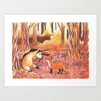 Autumnal Encounters Art Print