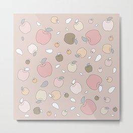 Autumn apples. Pastel light Metal Print