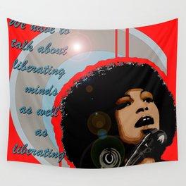Icons-Angela Davis Wall Tapestry