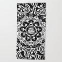 Spirit Within Black & White Patterned Mandala by inspiredimages