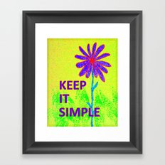 Wildflower Keep It Simple Framed Art Print
