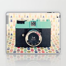 Blue Diana Mini Camera - Retro Vintage Photography Laptop & iPad Skin