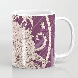 bouquet of the flowers on the violet grunge background Coffee Mug