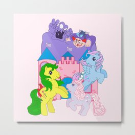 g1 my little pony 1986 movie characters Metal Print