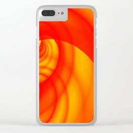 Fleeting Red Clear iPhone Case