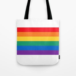 pride flag Tote Bag