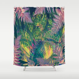 Abstract Floral Fern Tree Fairyland Shower Curtain