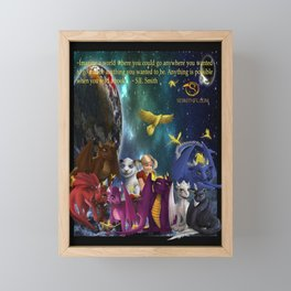 Dragonlings Space Party Framed Mini Art Print
