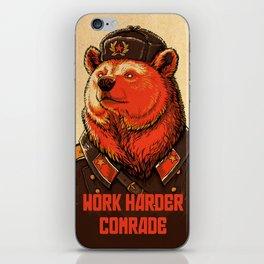 Work Harder, Comrade! iPhone Skin