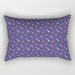 Dark purple with tubes. 80's style pattern. Rectangular Pillow