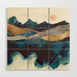 Blue Mountain Reflection Wood Wall Art