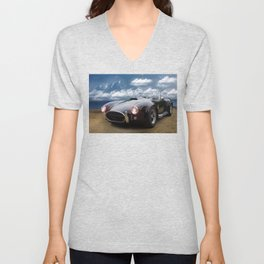Black Car on the Beach Unisex V-Neck