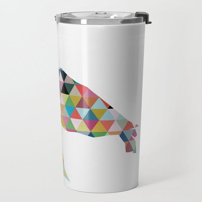 Colorful Geometric Turtle Travel Mug