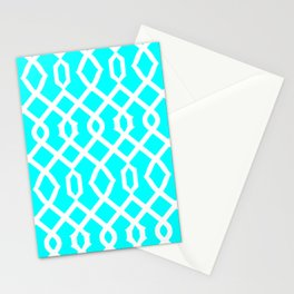 Grille No. 3 -- Cyan Stationery Cards