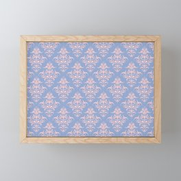 Damask Pattern | Serenity and Rose Quartz | Pantone Colors of the Year 2016 Framed Mini Art Print