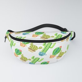 Cactus and pots Fanny Pack
