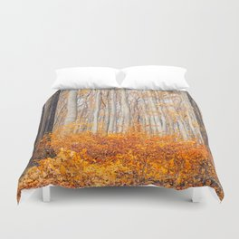 orange autumn Duvet Cover