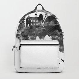 Geneva Switzerland Skyline BW Backpack